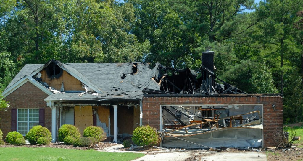 Lightning damage can cause house fires.