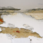 Water damage in ceiling