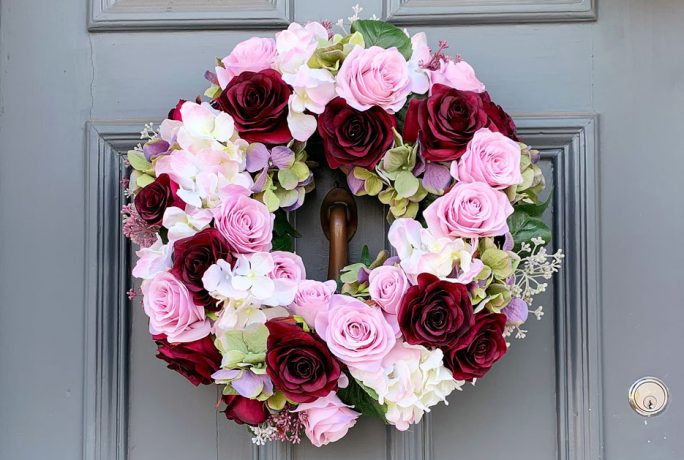 How to make a faux flower wreath