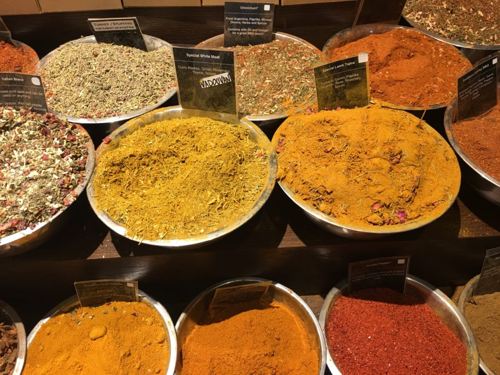 Spices at market.