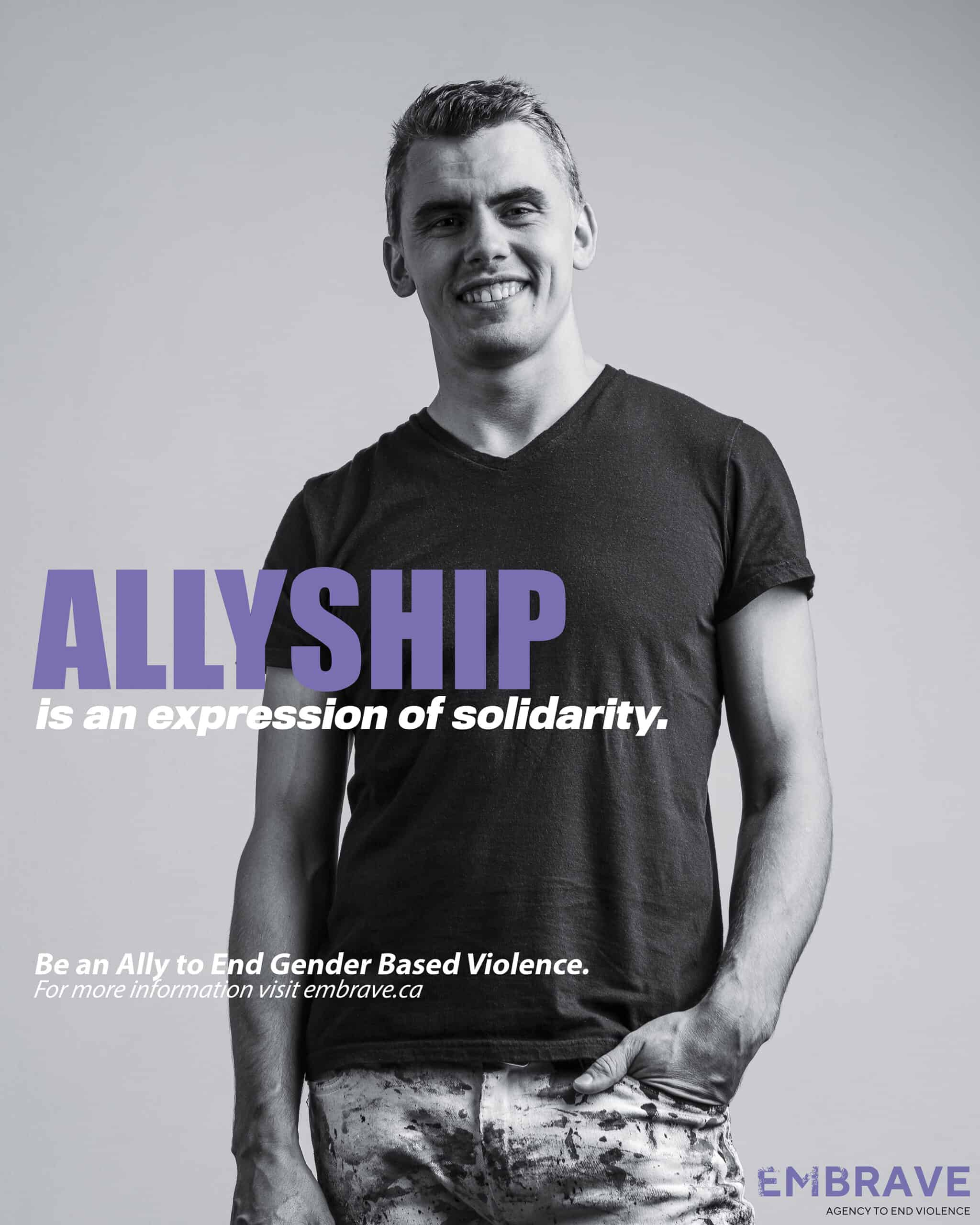What does it take to be a GBV ally poster feat. Callen Schaub
