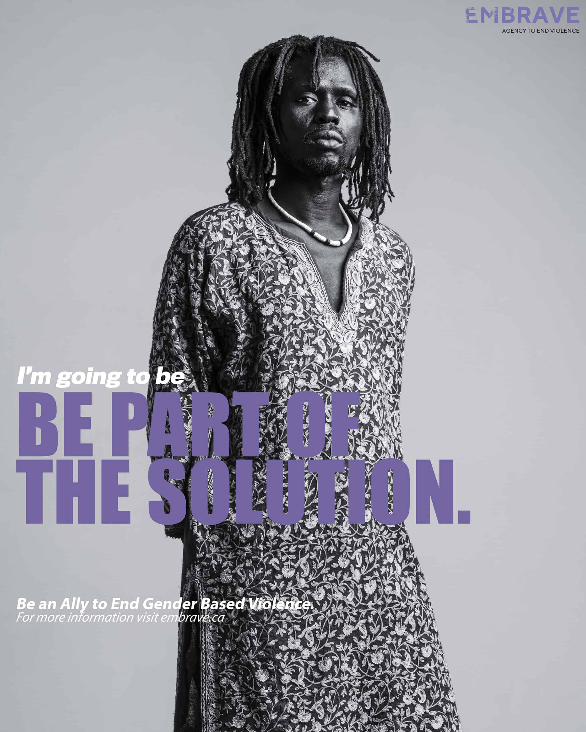 What does it take to be a GBV ally poster feat. Emmanuel Jah