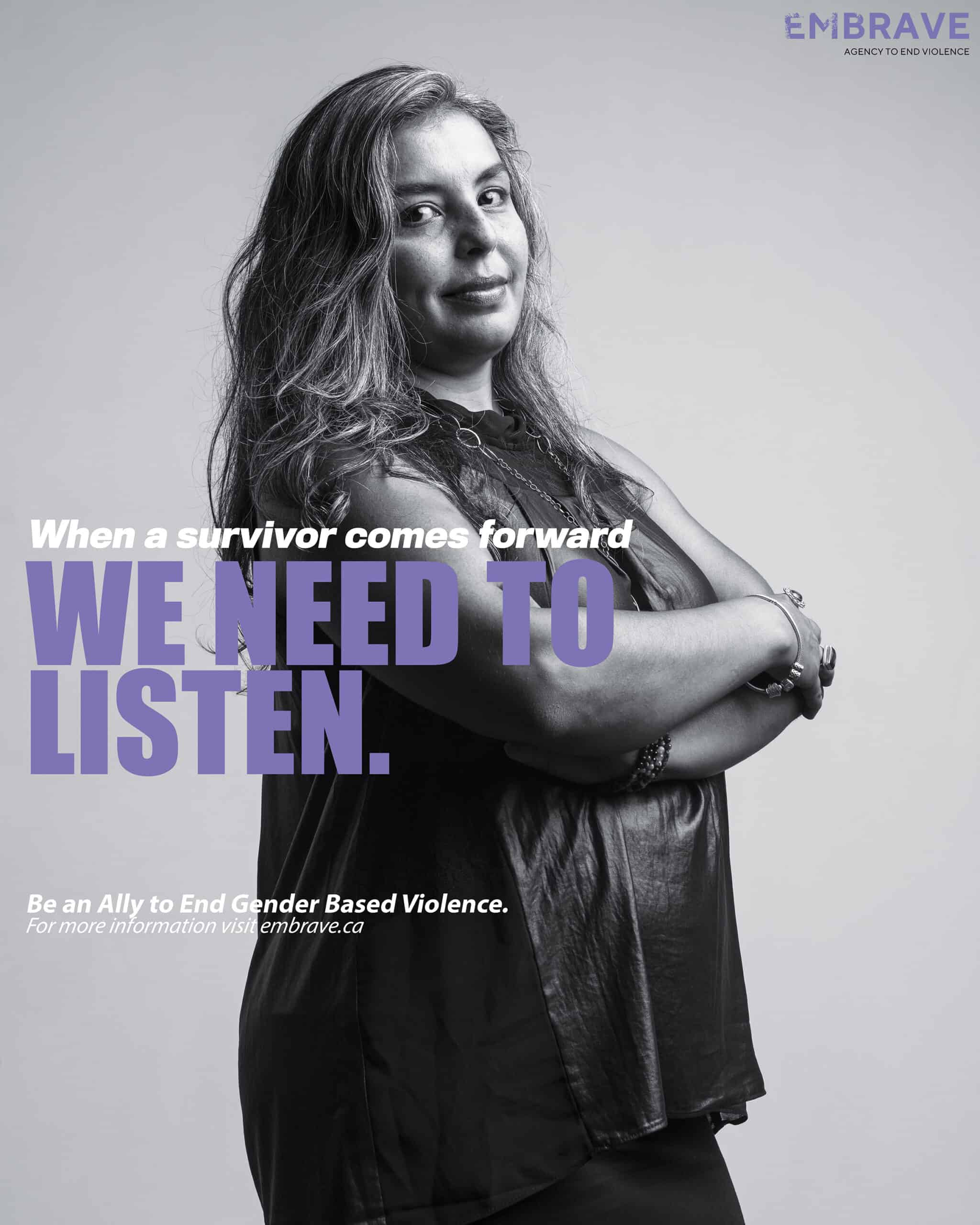 What does it take to be a GBV ally poster feat. Karen Craggs-Milne