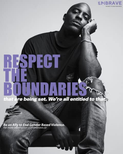 What does it take to be a GBV ally poster feat. Sean Leon