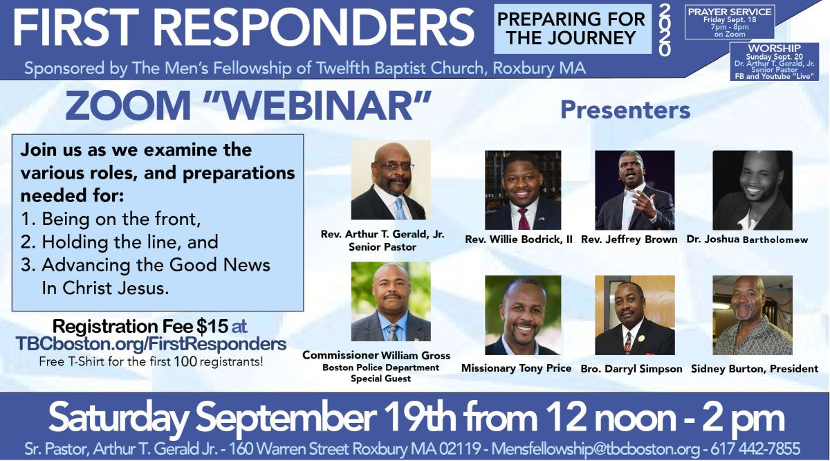 First Responders - Preparing For the Journey - Webinar September 19, 2020