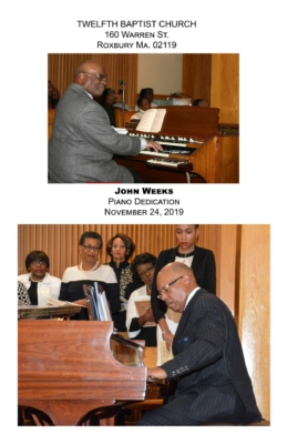 mr. John Weeks  piano dedication