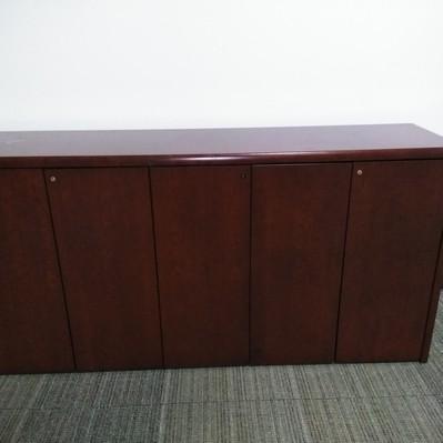 Cherry wood storage credenza
