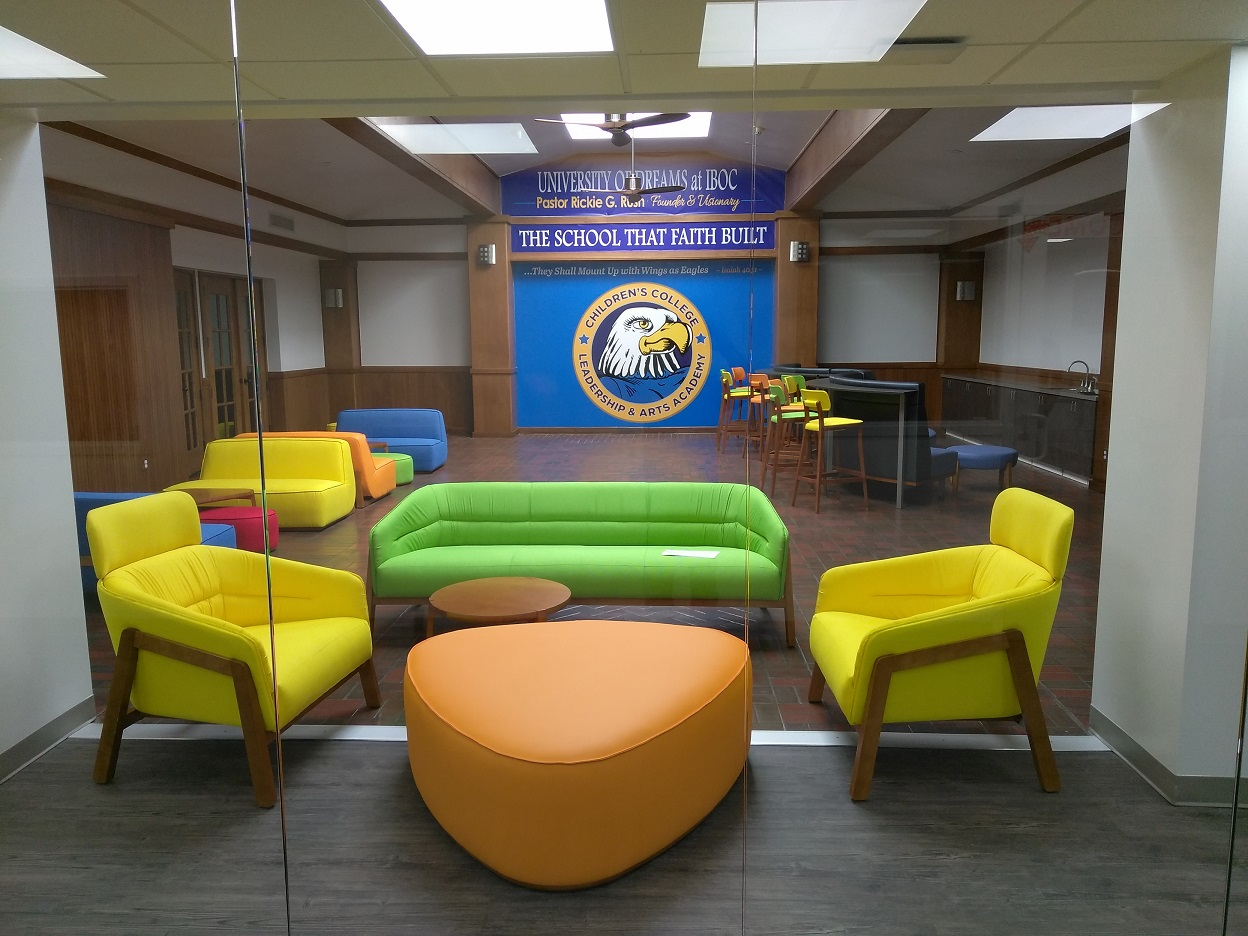 IBOC University of Dreams Furniture installation by Monarch Office Furniture