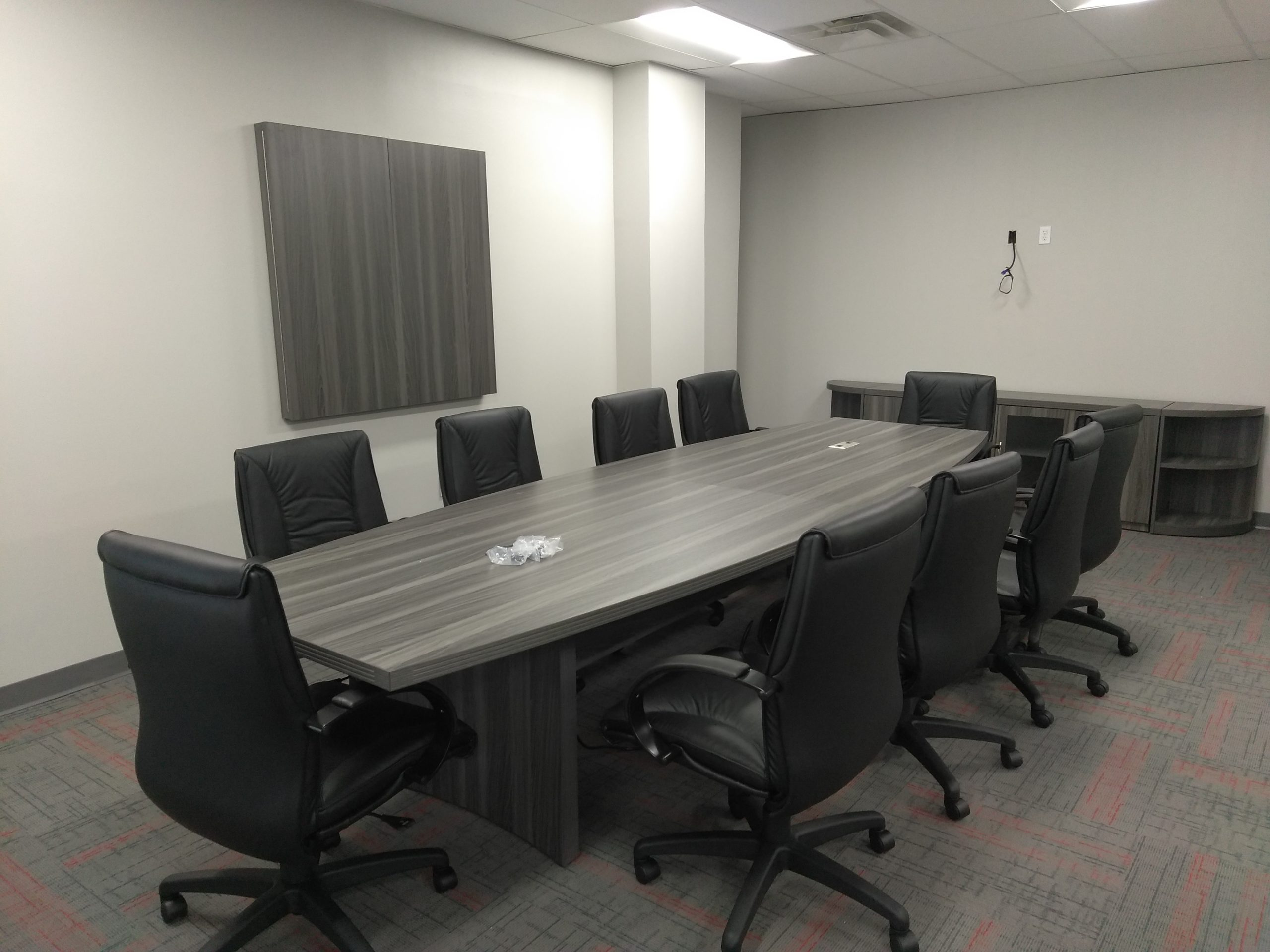 JFB Construction Conference Room installed by Monarch Office Furniture