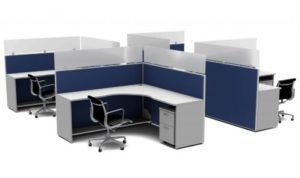 Cubicles configured for social distancing
