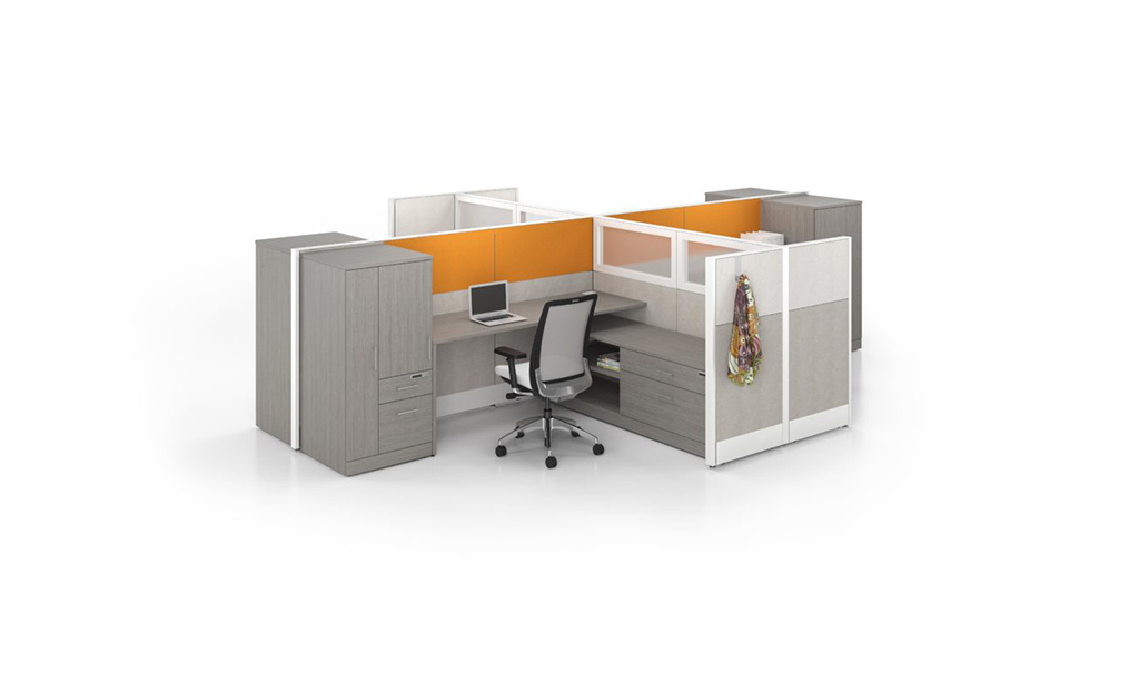 cubicle systems with tall walls