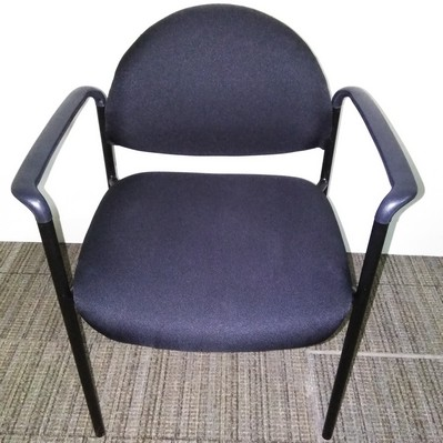 Black fabric stack chair