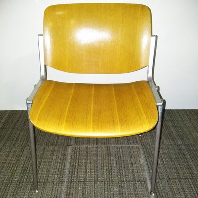 Light brown stacking chair