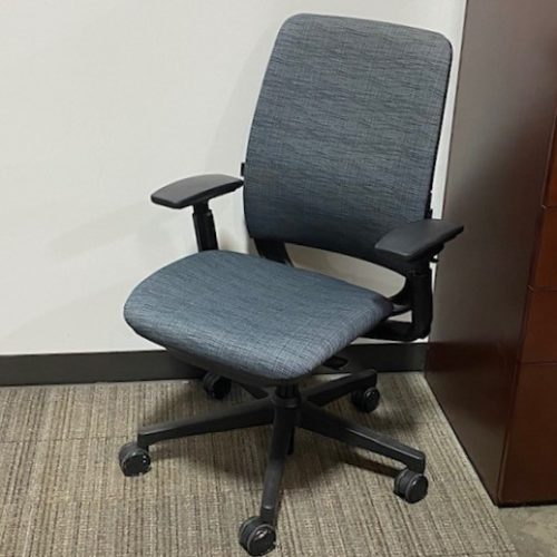 Pre-owned Steelcase Amia task chair in blue fabric