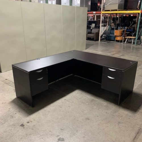 Espresso L-Shaped Desk