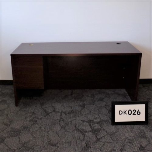 Monarch Office Furniture DK026 Straight Edge Desk with Left BF Ped