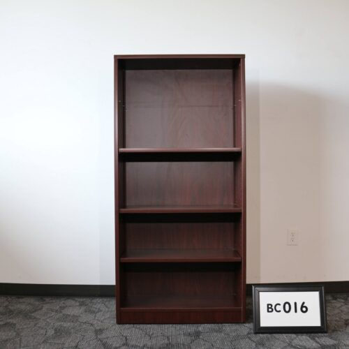 Monarch Office Furniture BC016 Used Mahogany Bookcase For Sale