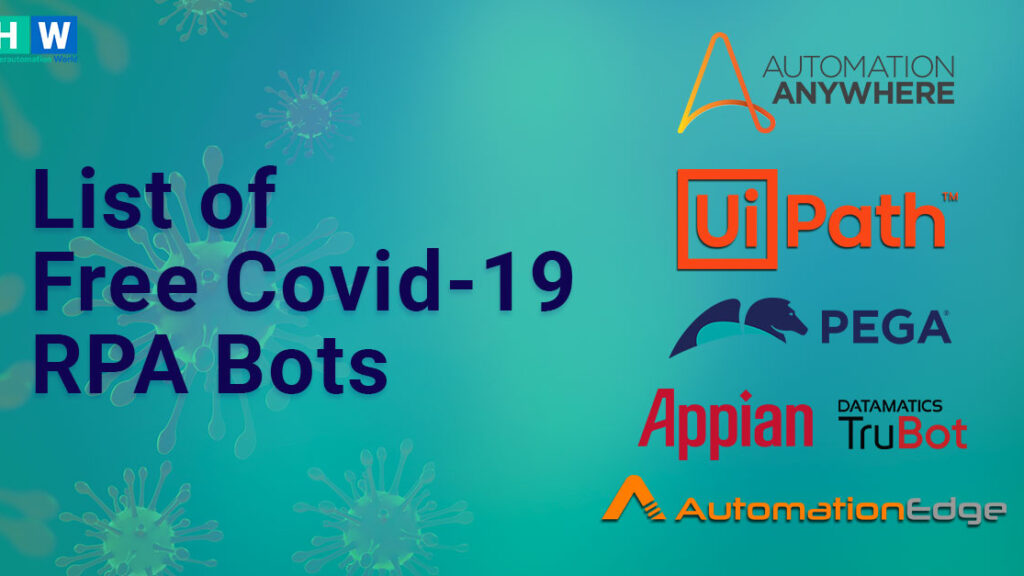List of Free RPA Bots for Covid-19 released by RPA Tools
