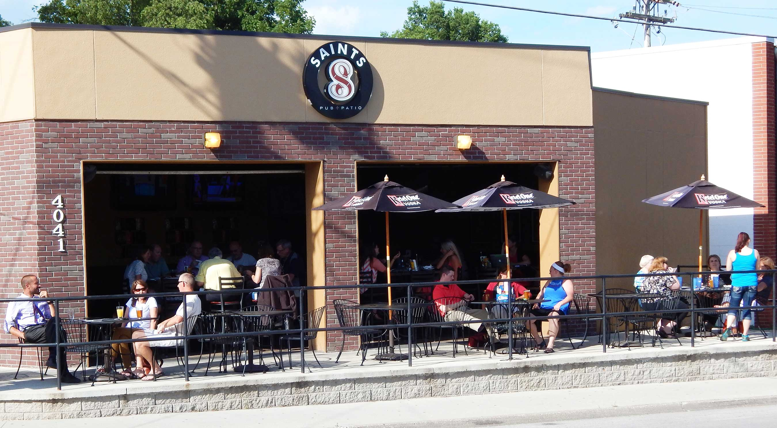 Saints Pub + Patio now open in Beaverdale