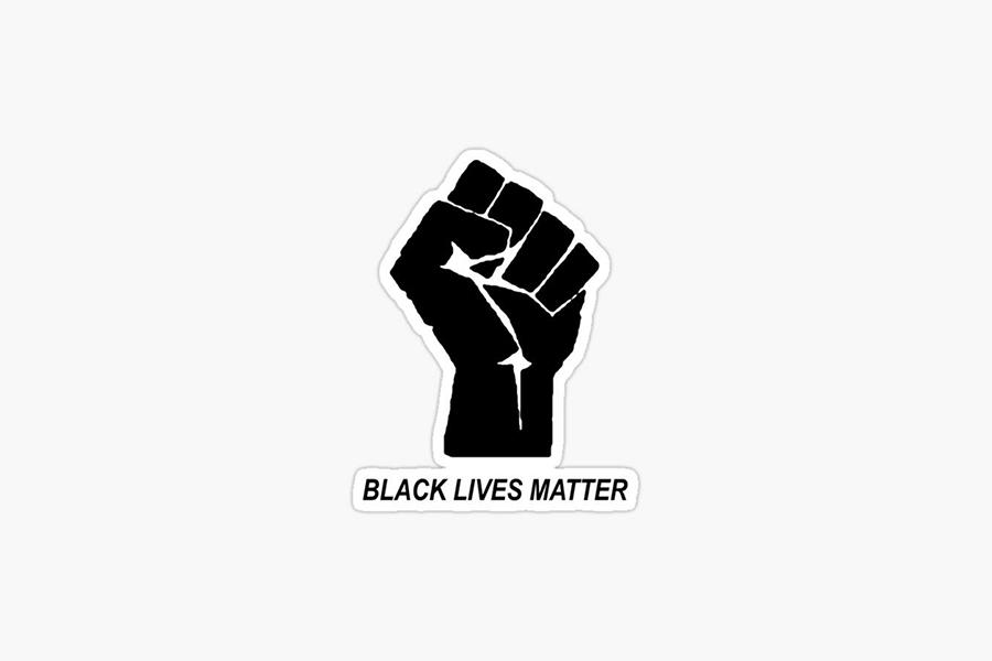 Black Lives Matter resistance, fist logo