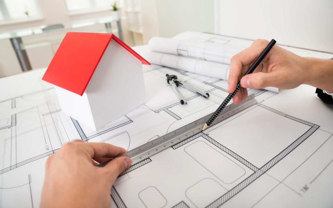 Picture of architectural design for design patent article