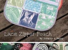 Free Lace Zipper Pouch Pattern