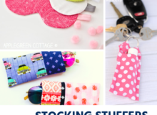 12 Stocking Stuffers to Make with Fabric Scraps. Handmade Christmas gifts for all ages.