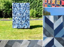 5 Denim Quilts from old Jeans. Upcycled jeans projects.