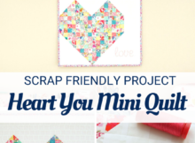 Heart You Mini Quilt Tutorial