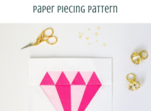 Diamond Paper Piecing Quilt Block Pattern
