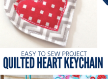 Quilted Keychain Tutorial for Valentine's Day gifts