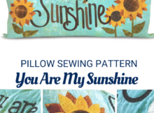 You Are My Sunshine Pillow Sewing Pattern