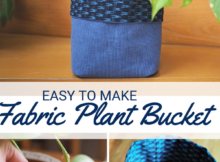 DIY Fabric Plant Bucket