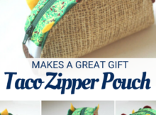 Taco Zipper Pouch Free Tutorial