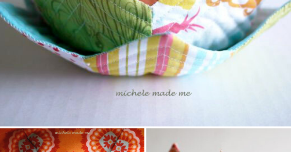 DIY Fabric Trinket Bowl Pattern and Tutorial