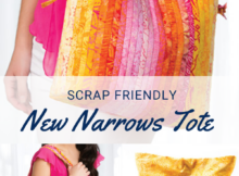 Scrap Friendly Quilt As You Go Tote Sewing Pattern - New Narrows Tote