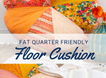Free Fat Quarter Friendly Sewing Project for a Floor Pillow