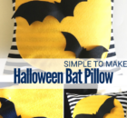 DIY Halloween Bat Pillow for simple Halloween Decor