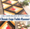 Fall Table Runner Sewing Pattern and Video Class for Beginners