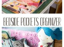 Easy to Sew Bedside Pocket Organizer