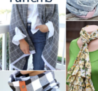10 DIY Scarf Patterns to Sew