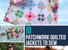 10 Quilted Coats to Sew with Patchwork