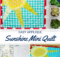 Free Sunshine Mini Quilt Sewing Pattern with applique
