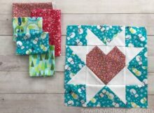 Fabric Pull Star & Heart Present Block