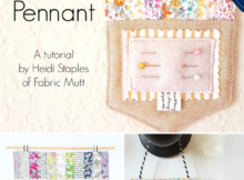 Pinnie Pennant Sewing Tutorial for a hanging pincushion that is easy to sew. Perfect for scraps!