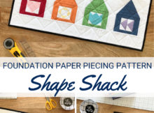 Shape Shack Free mini quilt sewing pattern and tutorial