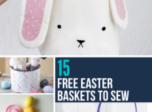 15 handmade free Easter basket sewing patterns and tutorials