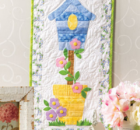 Birdhouse Quilted Skinny Wall Hanging Sewing Pattern and Video Class