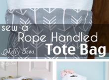 Rope Handled Tote Sewing Tutorial