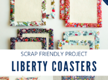 Scrap Friendly Coaster Sewing Tutorial - Easy to Sew